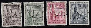 1953 BERLIN KAISER WILHELM CHURCH FUND VERY FINE CTO USED SET SG B106/9 Cat £275