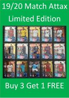 2019/20 Match Attax UEFA Soccer Cards - Gold / Silver / Bronze Limited Editions