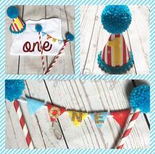 Circus Theme Boys Cake Smash Outfit/1st birthday Set. Choice Of Mini Hat Style