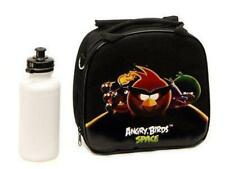 Angry Birds Space Lunch Box Black Bag with Shoulder Strap and Water Bottle!!