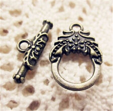PJ534 12set Antique Bronze Toggle Clasps For Necklace Bracelet Clasp accessories