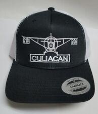 CULIACAN MEXICO EL  AVION 701  HAT  MESH TRUCKER BLACK WHITE ADJUSTABLE  NEW