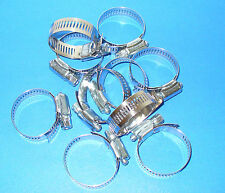 "STAINLESS STEEL BAND HOSE CLAMP 1-1/16""-2"" AMGAUGE #24 CLAMPS 10 PIECES"