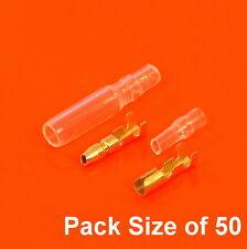 Calidad de latón de los conectores tipo bala estilo Lucas 3.9 mm cableado y cubiertas de la motocicleta x50