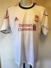 Liverpool s/s white training shirt par adidas taille adulte 48/50 pouces poitrine nouveau