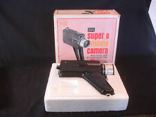 Old Vtg Sears Super 8 Movie Camera W/Pistol Grip 3-1 Auto Zoo Lens Original Box
