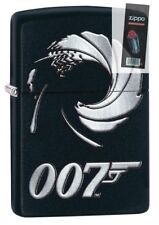 Zippo 29566 007 James Bond Black Matte Finish Full Size Lighter + FLINT PACK
