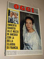 OGGI=1964/31=AMEDEO D'AOSTA=PALMI RC=GIORGIO ALBERTAZZI=FOLCO QUILICI SUB ABISSI
