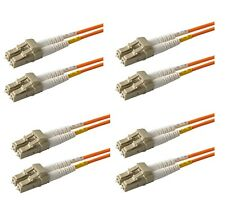 4-Pack 0.2 Meter OM1 Multimode 62.5/125 LC to LC Duplex Fiber Optic Patch Cable