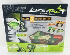 LAZER TAG Team OPS Tiger Deluxe 2 Player System 2 Taggers/2 HUD NEW NOS