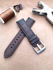 Hand Made Dark Brown Horween Leather Watch Strap - 20 MM
