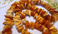 Old jewelry antique gems Royal Yellow Honey Baltic Amber beaded Necklace beads