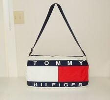 """Tommy Hilfiger Vtg Large Logo 23"""" Duffel Travel Gym Bag"""