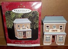 Hallmark Cafe Nostalgic Houses and Shops Ornament Collector Series Mib 1997