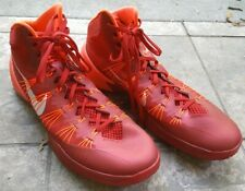 71c404b4569 Men s NIKE HYPERDUNK 2013 Red Crimson   Silver High Top Basketball Shoes 16  EUC