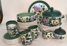 42 Pcs Vtg Boch Belgium In The Mood Plates Salads Bowls Cups Saucers Platter