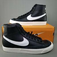 Nike Mens Blazer Mid 77 VNTG Basketball Shoes Size 8.5 Athletic Black White
