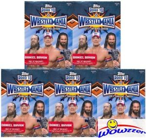 (5) 2017 Topps WWE Road to Wrestlemania EXCLUSIVE Sealed Blaster Boxes-5 RELICS