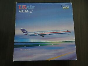 Gemini Jets USAir MD-82 McDonnell Douglas Diecast Model Airplane, 1:250, N823US