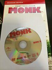 Monk - Season 7, Disc 2 REPLACEMENT DISC (not full season)