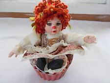 Marie Osmond Cinnamon Streusel Rag A Muffin Doll COA + Doll Necklace Muffin Cup