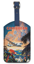 Leatherette Travel Luggage Tag Baggage Label - Caribbean by Mark Von Arenburg