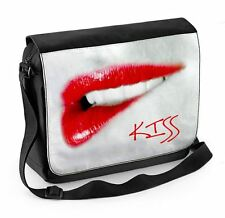 Kiss Lips Laptop Messenger Bag