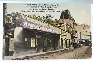 Antique ERROR Postcard of Veramendi Palace San Antonio Texas David Bowie Fame