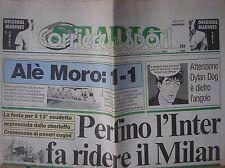 DYLAN DOG IN PRIMA PAGINA CORRIERE DELLO SPORT STADIO 11/5/1992