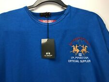 Stain* La Martina T Shirt Blue Bridgehampton NY Official Supplier Polo Team
