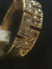10 KT. YELLOW GOLD  BAND WITH UNIQUE SHAPE UNISEX 3.1 GRAMS TOTAL WEIGHT