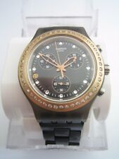 SWATCH WATCH SVCK4068AG FULL BLOODIED STONEHEART BLACK CHRONOGRAPH IRONY BNWT