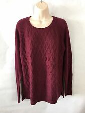 JCP Womens Sweater Wool Blend Crewneck Ruby Red Size PL Long Sleeves New W/Tag