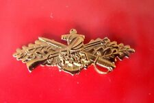 Usn Us Navy Seabee Combat Warfare Mess Dress Mini Qualification Badge G