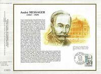 Foglio CEF 1er Giorno Francia André Messager 1983