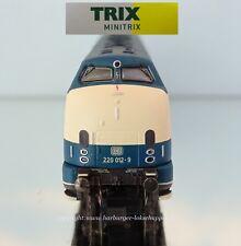 N - Minitrix 16222 Diesellok BR 220 Ozeanblau-beige DB Ep:IV Digital Neu OVP