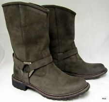 Timberland Womens Leather EK Stoddard Mid Boots Dark Brown 8603A Size 6 New