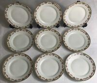 Lot 9 Petites Assiettes Plates En Porcelaine Limoges France 🇫🇷 D 20,5 cm