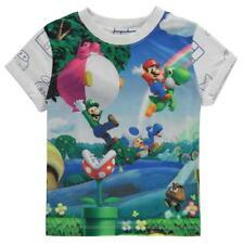 Boys Official Nintendo Super Mario Bros T-shirt Top Ages 2 Through to 13 5-6 Years
