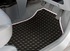 TOYOTA AYGO (2014 ONWARDS) TAILORED RUBBER CAR MATS WITH WHITE TRIM [3437]