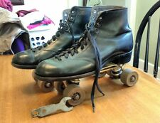 VTG BETTY LYTLE Roller Skates Black Men's 10.5 - Chicago Custom Line M.A.R.S.I