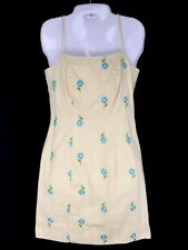 LILLY PULTIZER Ladies Embroidered Daisy Yellow Sundress Summer Dress Cotton 0