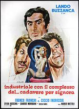 CINEMA-manifesto INDUSTRIALE CON IL COMPLESSO DEL..CADAVERE PER SIGNORA buzzanca