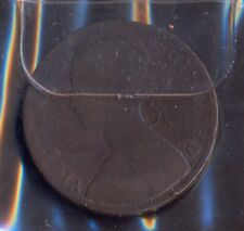 """Great Britain, 1861, Used one penny cooper coin """"Victoria"""" in normal condition"""