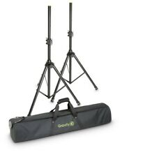Gravity SS5212BSET1 Set of 2 Speaker Stands 35mm Pole PA Tops Tripod Bag Case