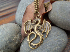 Dragon necklace pendant jewelry antique retro fire Dragon necklace