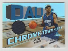 2004/05 TOPPS CHROME JASON TERRY CHROME-TOWN HEROES JERSEY REFRACTOR 10/25