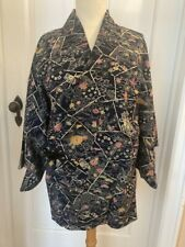 Antique Japanese Kimono Haori Jacket Room Wear Made in Japan Hand SawedOuter