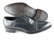 R - Men's TO BOOT NEW YORK 'Cap Toe' Black Leather Oxfords Size US 11 - D