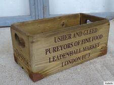 Nr.C11D Vintage Caisse ~ Leadenhall Market Londres~ Boîte en Bois ~ Shabby Chic